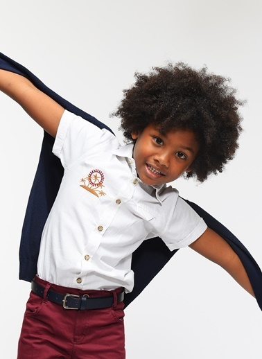 Morhipo Kids Kısa Kollu Gömlek Gri